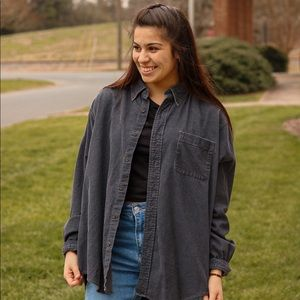 Charcoal corduroy button up